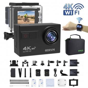 Спортна видеокамера ODRVM OD9000R, WIFI 4K, водоустойчива