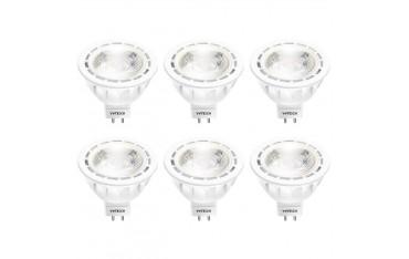 LED Крушки YWTESCH MR16 GU5., Комплект 6 бр., 4000K Неутрален бял, 5W, 450 Lm