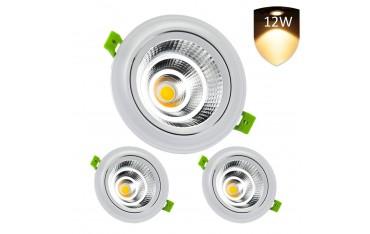 LED 12W лампи за вграждане комплект 3 бр, LEDMO