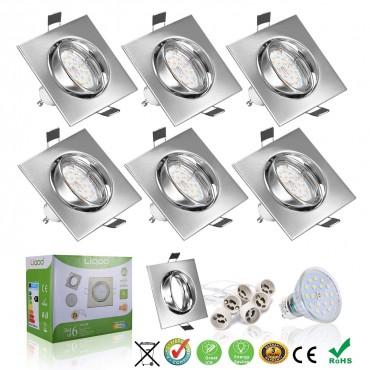 Liqoo LED вградени прожектори GU10 6 W