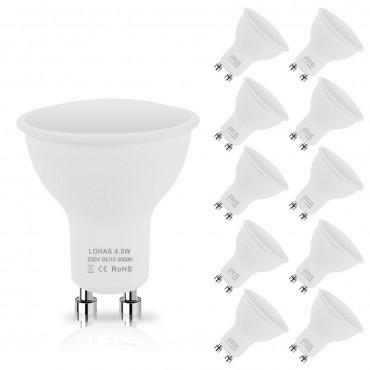 LOHAS 10 Pack 4.5W GU10 LED лампи