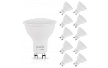 LED Крушки LOHAS, GU10, Комплект 10 бр., 3000K Топло бял, 4.5W, 450 Lm