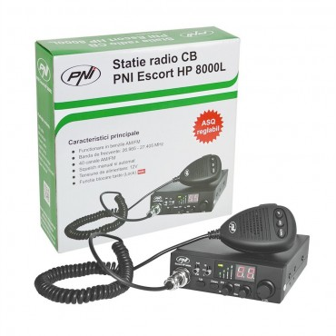 PNI CB Радиоприемник / предавател Ескорт HP 8000L Регулируем ASQ 4 W Keylock