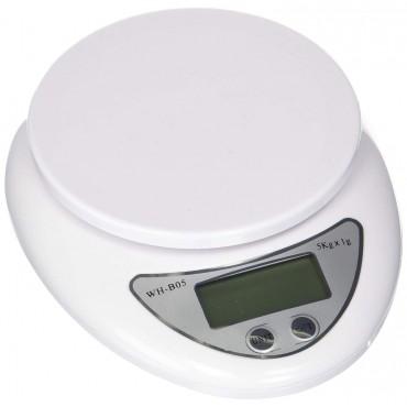 Кухненска електронна везна WH-B05, 5 кг капацитет, LCD