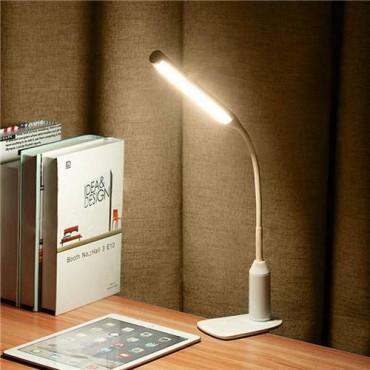 Светодиодна нощна лампа D3, акумулаторна, със сензор докосване, Бял